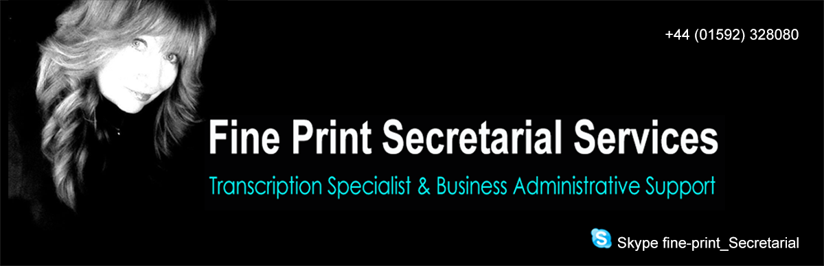 Fine Print Secretarial Services – Blog
