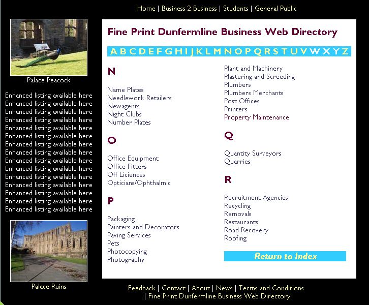 Fine Print Business Directory - photo listing N-R