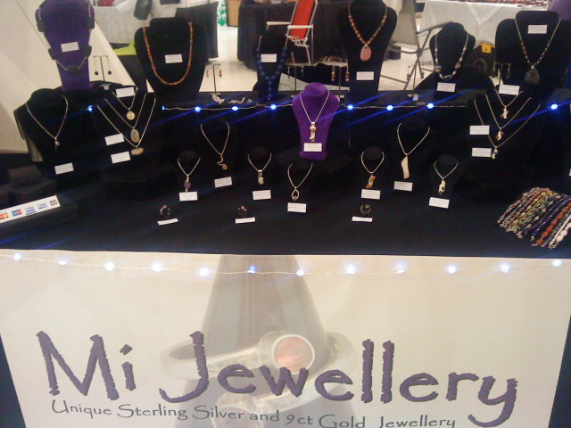 photo Mi Jewellery segment of stall at Christmas Craft market