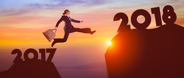 Online learning courses - photo leaping from 2017 to 2018